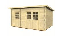 Garaż drewniany Denis 34mm