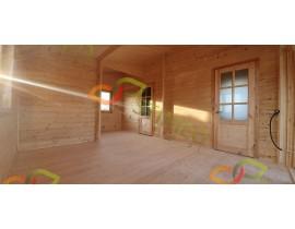 Domek drewniany Anastazja - kąt dachu 30 st.