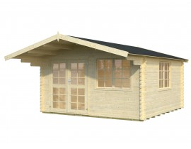 Domek z drewna do ogrodu Lara 2