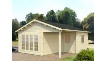Domek drewniany trzypokojowy Gardenia