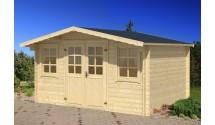 Duży drewniany domek ogrodowy Roben 8