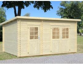 Drewniany domek narzędziowy Evelyn
