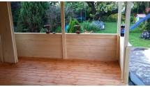 Przedłużenie dachu i tarasu w domku - wycena indywidualna