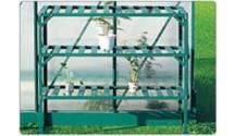 Stolik - regał 3 poziomowy zielony do szklarni