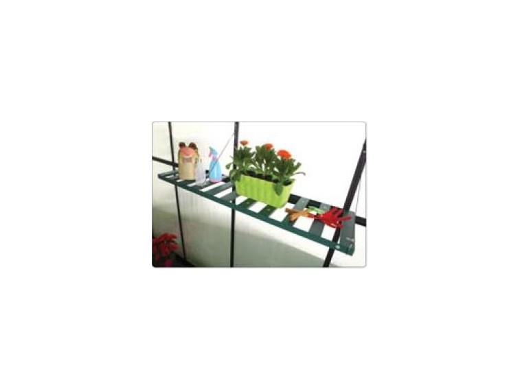 Półka wisząca do szklarni aluminiowych zielona