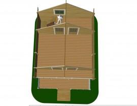 Domek drewniany Artur z poddaszem