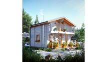 Domek drewniany Artur ROD z poddaszem