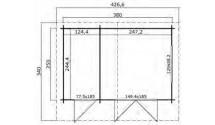 Domek letniskowy drewniany Aleks 32,5m2 + WC