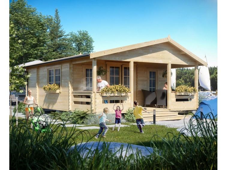 Domki letniskowe drewniane Adam 4 pokoje