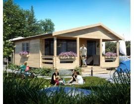 Domki letniskowe drewniane Adam LUX 3 pokoje