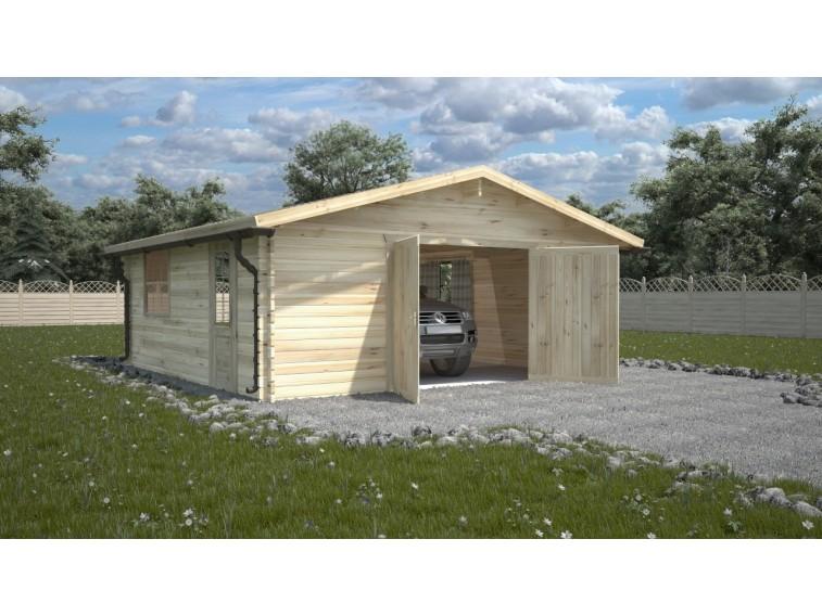 Garaż drewniany dwustanowiskowy