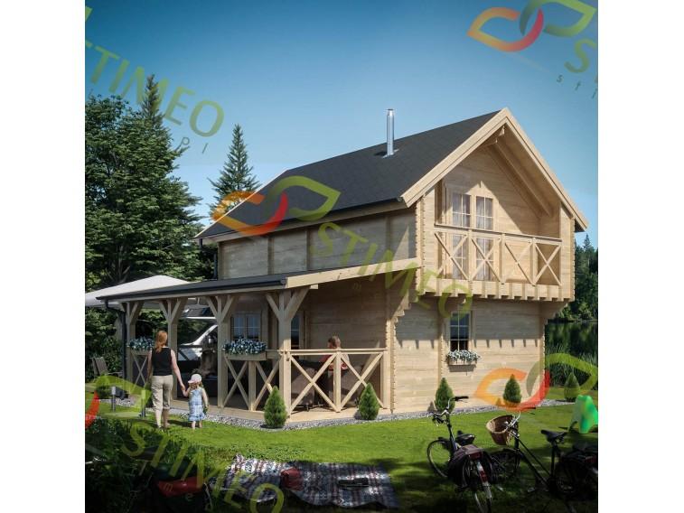 Domek drewniany Atena z poddszem 45mm
