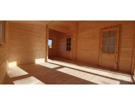 Domek drewniany Afrodyta 4 pomieszczenia + antresola