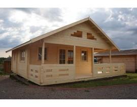 Domek drewniany Afrodyta 3 pomieszczenia + antresola