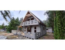 Domek drewniany Artur dach 45st balik 45mm