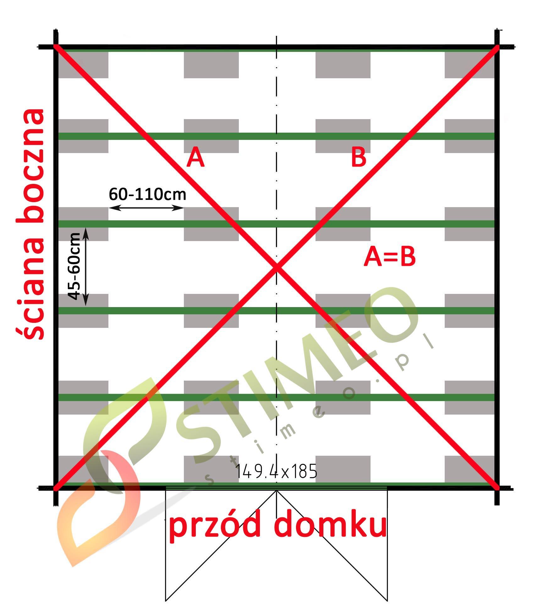 Schemat rozmieszczenia bloczków